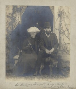 Mary Annie (née Parsons), Lady Sharpe; Sir Montagu Sharpe, by Unknown photographer - NPG x28793