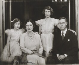 Princess Margaret; Queen Elizabeth II; Queen Elizabeth, the Queen Mother; King George VI, by Marcus Adams - NPG x28913