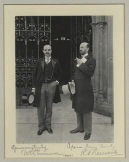 Sir Walter Richard Plummer; Sir George Renwick, 1st Bt, by Benjamin Stone - NPG x29065