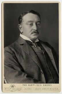 Cecil John Rhodes, by Alexander Bassano, circa 1890 - NPG x29184 - © National Portrait Gallery, London