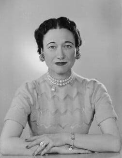 Wallis, Duchess of Windsor, by Dorothy Wilding - NPG x29432