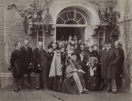 The opening of new buildings at the Sarah Acland Nursing Home (including Sir Henry Wentworth Acland, 1st Bt; Lorina Hannah Liddell (née Reeve); Lorina Charlotte ('Ina') Liddell; King Edward VII), by Hills & Saunders - NPG x29596
