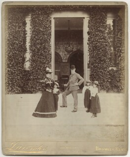 John Lubbock, 1st Baron Avebury and family, by Edgar Davey Lavender, early 1890s - NPG x29790 - © National Portrait Gallery, London