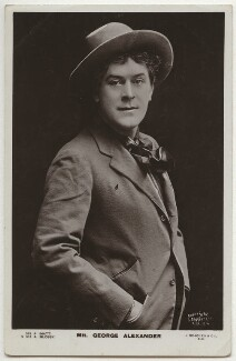 Sir George Alexander (George Samson) as Oscar Stephensson in 'The Prodigal Son', by Langfier Ltd, published by  J. Beagles & Co - NPG x298