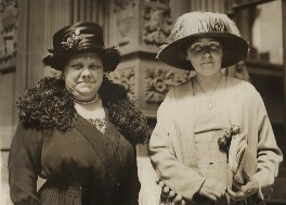 Florence Flora Drummond; Dame Christabel Pankhurst, by Unknown photographer - NPG x29896