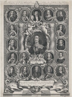 King Charles I and his Supporters, by Joseph Nutting - NPG D10634