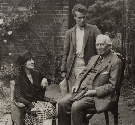 1st Earl and Countess of Oxford and Asquith with Anthony Asquith, by Unknown photographer, 1928 - NPG x30417 - © National Portrait Gallery, London