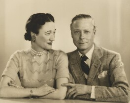 Wallis, Duchess of Windsor; Edward, Duke of Windsor, by Dorothy Wilding - NPG x33568