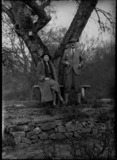 Madeline (née Campbell Grace), Lady Millais; Sir Geoffroy William Millais, 4th Bt, by Bassano Ltd - NPG x30714