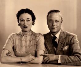 Wallis, Duchess of Windsor; Edward, Duke of Windsor, by Dorothy Wilding - NPG x33570