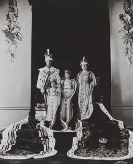 King George VI; Princess Margaret; Queen Elizabeth II; Queen Elizabeth, the Queen Mother, by Dorothy Wilding - NPG x25287