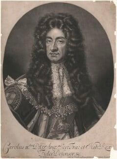 King Charles II, by Robert Williams, after  Sir Godfrey Kneller, Bt - NPG D10642