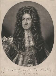 King Charles II, by Robert Williams, after  Sir Godfrey Kneller, Bt - NPG D10643