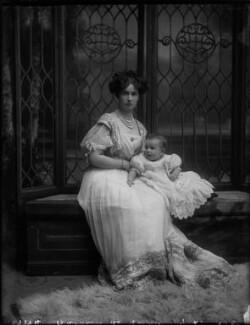 Ethel Catharine Hannah de Forest (née Gerard), Countess de Bendern with her son, Count John Gerard de Bendern, by Bassano Ltd - NPG x30834