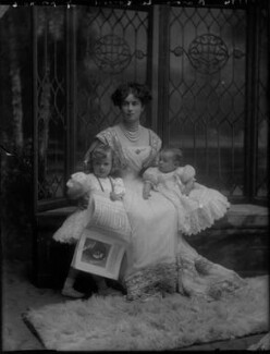 Ethel Catharine Hannah de Forest (née Gerard), Countess de Bendern with her two sons, Alaric de Bendern and Count John Gerard de Bendern, by Bassano Ltd - NPG x30835