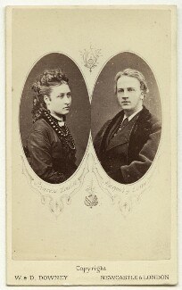 Carte-de-visite of 9th Duke of Argyll and wife., by W. & D. Downey - NPG x31040