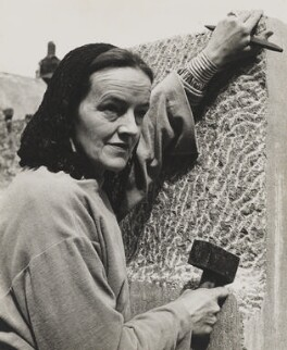 Barbara Hepworth, by Peter Keen, mid 1950s - NPG x35116 - © estate of Peter Keen / National Portrait Gallery, London