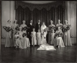 The Wedding of Lady May Cambridge and Henry Abel Smith, by Vandyk, 24 October 1931 - NPG x31672 - © National Portrait Gallery, London