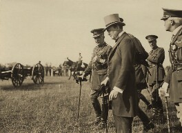 Sir William Robert Robertson, 1st Bt and Winston Churchill and three unknown others, by Unknown photographer - NPG x32105