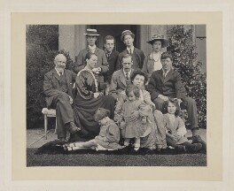 Group photograph of the Hobhouse family with children and in-laws., by Unknown photographer - NPG x32107