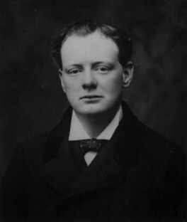 Winston Churchill, by Unknown photographer, copied by  Walter Stoneman - NPG x32178