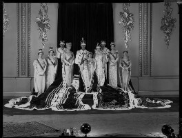 Royal group on the occasion of the coronation of King George VI, by Hay Wrightson - NPG x32330