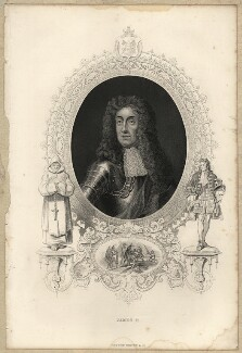 King James II, after Sir Godfrey Kneller, Bt - NPG D10646