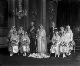 'The Wedding of 6th Earl of Harewood and Princess Mary', by Vandyk, 28 February 1922 - NPG x32507 - © National Portrait Gallery, London