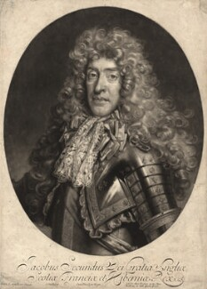 King James II, by John Smith, published by  Alexander Browne, after  Nicolas de Largillière - NPG D10651