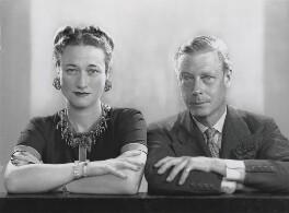 Wallis, Duchess of Windsor; Prince Edward, Duke of Windsor (King Edward VIII), by Dorothy Wilding - NPG x32592