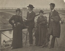 Anna Oscara Steffen (née von Sydow); Halliday Sparling; May Morris; Gustaf Steffen, by Unknown photographer - NPG x32598