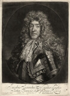 King James II, by John Smith, published by  Alexander Browne, after  Nicolas de Largillière - NPG D10649