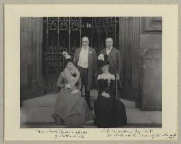 Mrs Brownsfield; Mr Brownsfield; Esther Anne Macdona (née Milne); John Cumming Macdona, by Benjamin Stone - NPG x32629