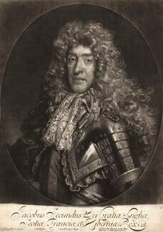 King James II, by John Smith, published by  Alexander Browne, after  Nicolas de Largillière - NPG D10652