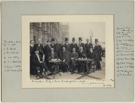 Luncheon party to French and English Aviators, by Benjamin Stone - NPG x32600