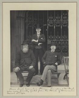 William Lundon; Michael Joseph Flavin; Patrick Aloysius M'Hugh, by Benjamin Stone - NPG x32701