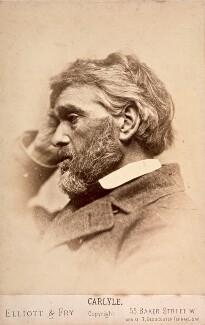Thomas Carlyle, by Elliott & Fry, 1860s - NPG x5659 - © National Portrait Gallery, London