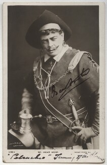(Thomas Stange Heiss) Oscar Asche as Petruchio in 'The Taming of the Shrew', by Johnston & Hoffmann, published by  Rotary Photographic Co Ltd, circa 1904 - NPG  - © National Portrait Gallery, London