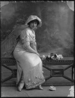 Yvonne Arnaud, by Bassano Ltd, 17 October 1912 - NPG x33369 - © National Portrait Gallery, London
