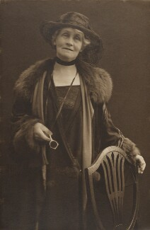 Emmeline Pankhurst, by Olive Edis, 1920s - NPG  - © National Portrait Gallery, London