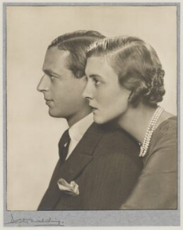 Prince George, Duke of Kent; Princess Marina, Duchess of Kent, by Dorothy Wilding - NPG x33887