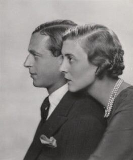 Prince George, Duke of Kent; Princess Marina, Duchess of Kent, by Dorothy Wilding - NPG x33889