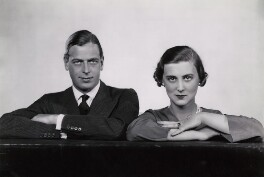Prince George, Duke of Kent; Princess Marina, Duchess of Kent, by Dorothy Wilding, October 1934 - NPG x33897 - © William Hustler and Georgina Hustler / National Portrait Gallery, London