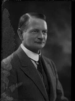 Sir John Cecil Power, 1st Bt, by Bassano Ltd - NPG x34207