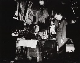 Victor Saville; George Arliss on the set of 'The Iron Duke', by Unknown photographer - NPG x34571