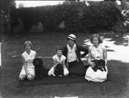 Jean Constance Toynbee (née Asquith); Christine Clark (née Asquith); Hon. Betty Constance Asquith (née Manners); (April) Mary Rous (née Asquith), Countess of Stradbroke, by Bassano Ltd - NPG x34676