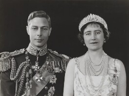 King George VI; Queen Elizabeth, the Queen Mother, by Dorothy Wilding - NPG x34731