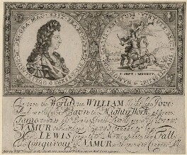 King William III, by Simon Gribelin, sold by  William Creed, after  I. or J. Fowler (Forster) - NPG D10662