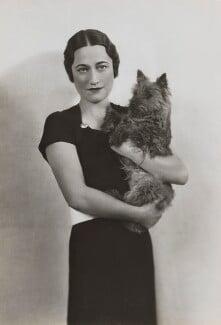 Wallis, Duchess of Windsor, by Dorothy Wilding - NPG x34892