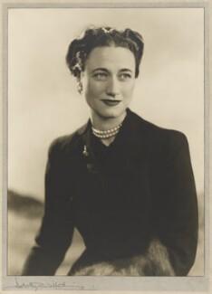 Wallis, Duchess of Windsor, by Dorothy Wilding - NPG x34899